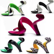 Womens Open Toe Unique Design Party Nightclub Wedding Shoes Sandals Stilettos