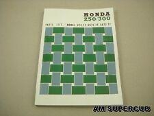 Honda Dream 250 300 305 C72 CA72 CS72 C77 CA77 CS77 Part List Catalog Book New