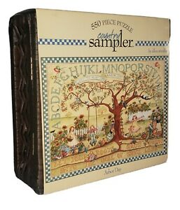 550pc Country Sampler Puzzle w/ Wicker Basket Case