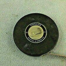 Vintage K & E Keffel & Esser 50 Foot Linen Measuring Tape.w/Black Casing Exc.