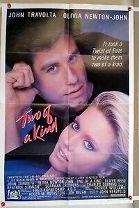 TWO OF A KIND Travolta 1983   Original US 1 sheet comedy  cinema movie poster