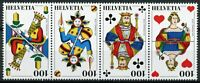 Switzerland Stamps 2018 MNH Swiss Jass Cards Card Games 4v Strip