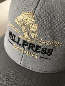 Patagonia Trucker Hat - Millpress Imports Olive Oils Rare Gray Cap