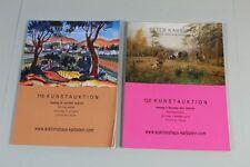 2 Auktionskataloge Peter Karbstein , Juni + November 2014  - guter Zustand /S172
