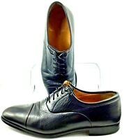 Magnanni Oxford Mens 11 D Black Leather  Lace Up Cap Toe Derby Dress Shoes Spain