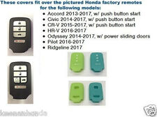 Silicone Rubber Honda Civic Smart Key Remote Cover 2014 - 2017 HNDAD104Glow
