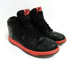 Men's Nike Dunk High Shoes Sneakers 344648-002 (Sz:9.5) Black/Hot Red Lava