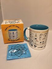 "Unemployed Philosopher's Guild ""How To"" Mug - How To: YOGA Mug & Mat Coaster,NIB"