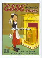ad0568 - ESSE Anthracite Stoves - Maid With A Stove -  Modern Advert Postcard