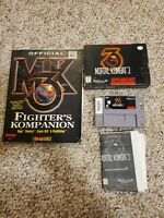 Mortal Kombat 3 Super Nintendo Snes Complete CIB Authentic Good Condition, Book