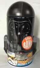 """Star Wars Darth Vader Shaped Tin Bank NEW 7"""" Tall"""