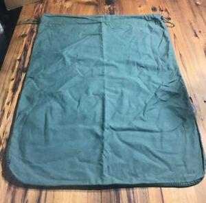 **LOT OF 6** Barracks Bag Cotton Large Laundry Drawstring Tote Storage OD Green