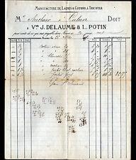 """NEVERS (58) USINE de LAINE & COTONS à tricoter """"DELAUME & POTIN"""" 1880"""