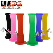 Silicon Portable Hookah Shisha Water Pipe Bong Bang 9 inch Recycler Small