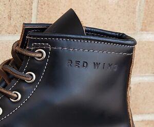 Red Wing 9874 Black Klondike Irish Setter Moc Toe 875 Heritage Boots Size 7.5 E