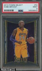 2012 Panini Select #54 Kobe Bryant Los Angeles Lakers HOF PSA 9 MINT