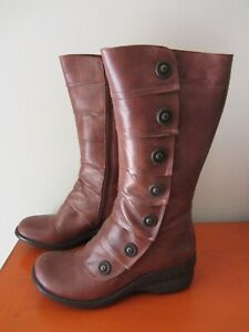 Miz Mooz - Oracle Whiskey Leather Boots - Size 7.5 / 38 - BRAND NEW - Brown