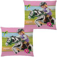 Playmobil Kissen Country Pferd 40 x 40 cm Dekokissen Kuschelkissen Schmusekissen