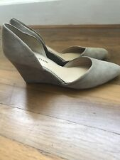 Antonio Melani Size 8 Wedges Suede Beige Excellent Condition. Priced To Sell