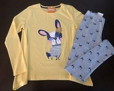 Gymboree Girl Yellow Frenchie Swing Tunic & Grey Frenchie Leggings Outfit 10 12