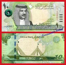 BAHRAIN BAREIN 10 Dinars dinares 2016 Pick NEW DESIGN SC / UNC