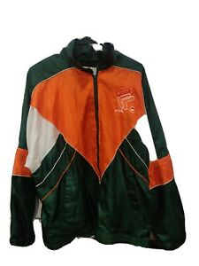 Vintage FILA Windbreaker Nylon Jacket Orange Green White!
