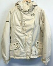 686 Insulated Jacket Acc. Snow Boarding Ski Size S Ivory Hooded Pockets