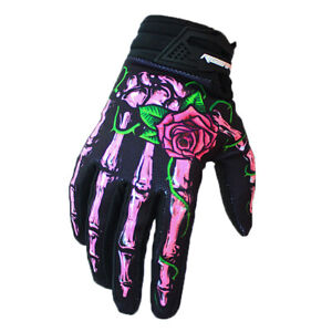 Ghost hand MTB Bicycle Road Cycling Bike Full Finger Glove racing Gloves Pink