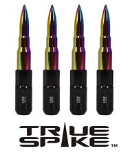 20 TRUE SPIKE 121MM 12X1.5 NEO CHROME EXTENDED TUNER SPIKED BULLET LUG NUTS D