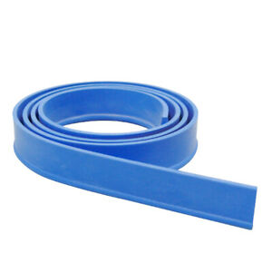 Replacement Window Doors Glass Cleaning Squeegee Rubber Blades 105cm Blue
