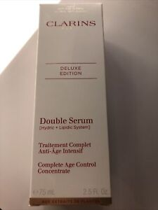 clarins double serum Deluxe Size 75 Ml NEW !plus Samples !