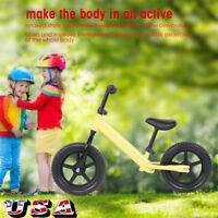 12 inch Sports Wheel Kids Training Balance Bicycle Children No-Pedal Bike US