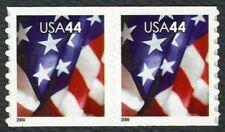#4394 44c U.S. Flag, Coil Pair, Mint ANY 4=