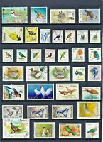 BIRDS Thematic STAMP Collection MINT USED majority EUROPEAN Ref:TT715