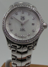 Tag Heuer Link WJF1319 Quartz Stainless Steel MOP Diamond Dial Box Only