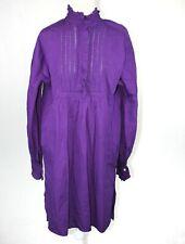 Antik Batik Size 42/L NWT Purple Long Sleeve Cotton Poplin  Taury Dress