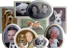 Round Ceramic Memorial Photo-Plaque 100mm LIFETIME GUARANTEE 001