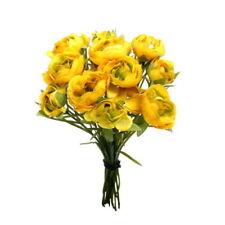 Fiori e piante finte cespugli gialli per la decorazione della casa