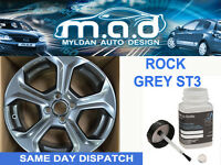 FIESTA ST ALLOY WHEEL TOUCH UP PAINT KIT BRUSH FORD CURBING ST-3 ROCK GREY
