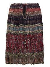 Gonne e minigonne da donna rosso casual in cotone