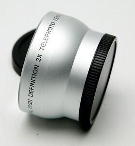 Digital High Definition Telephoto 2x Camera & Video Lens W/52mm Thread. Clean.