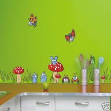 Mushroom Mouse & Ladybird Removable Wall Animal Sticker Home Baby kids Nursery