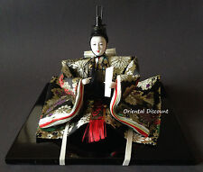 "6""H Beautiful Handmade Collectible Japanese Prince Ornate Kimono Display Doll"