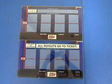 Lot of 2 Bally Gaming Inc Reel Glass Single Payline Slot Machine Blue C705-00031