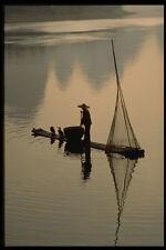 606011 Fisherman On River Li Guilin China A4 Photo Print