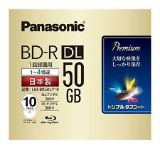 New! 10 Panasonic 3D Blu ray 50 GB BD-R DL Blu-ray DVD HD 4x Original MID Code