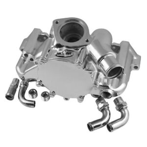Tuff Stuff Water Pump 1362A; Platinum Chrome Aluminum for Chevy 350 LT1 (5.7L)