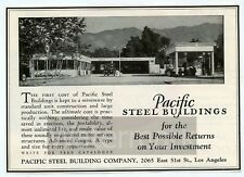 1930s Print ad Gas Service Station Pacific Steel Buildings Los Angeles CA