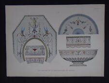 PLANCHE 20 Cartons de la Manufacture de Sèvres Porcelaine Porzellan porcelain