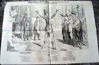 1866 GIORNALE UMORISTICO DI FIRENZE LA SCOSSA ELETTERICA.INCISIONE ANTIBORBONICA